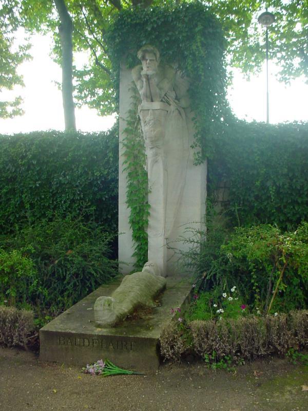 蒙帕纳斯公墓的波德莱尔纪念碑