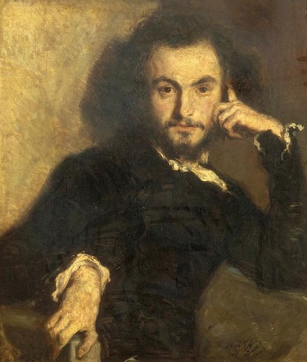 夏尔·波德莱尔(1821-1867)像,埃米尔·德洛伊(Émile Deroy)绘于1844年。