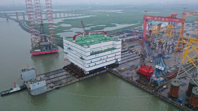 世界最大、亞洲首座海上換流站裝船發運!