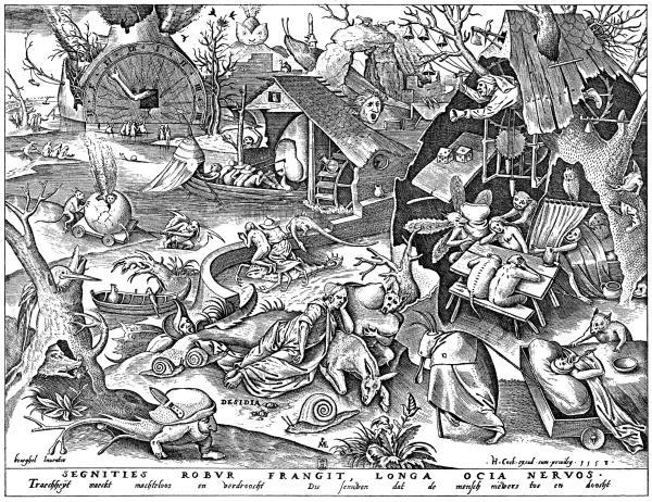 老彼得·勃鲁盖尔(Pieter Bruegel the Elder):Acedia(1558)