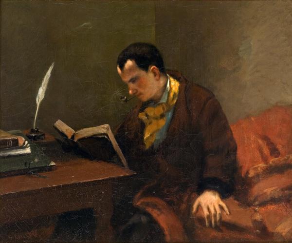 居斯塔夫·库尔贝(Gustave Courbet)绘波德莱尔像(1848)