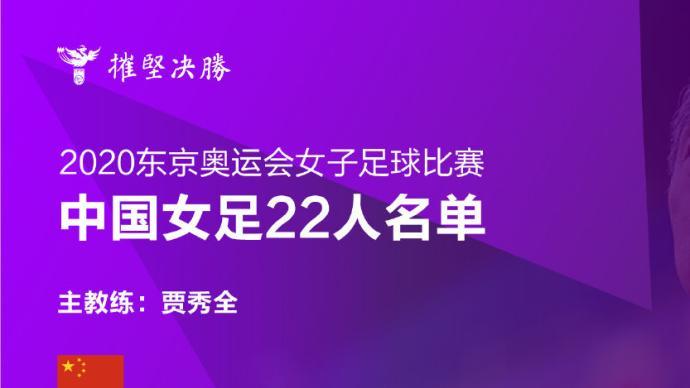 中國女足奧運名單公布,與巴西、荷蘭、贊比亞爭奪小組出線權