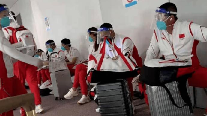 首支抵达东京的中国奥运代表团队伍:赛事酒店存防疫漏洞