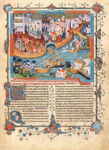 波罗兄弟自威尼斯启程,《马可·波罗游记》,约1400年