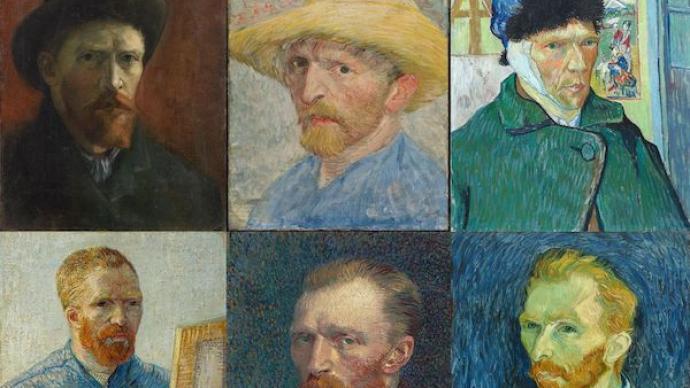 史上最全梵高自画像伦敦将展,包括生命中的最后两画