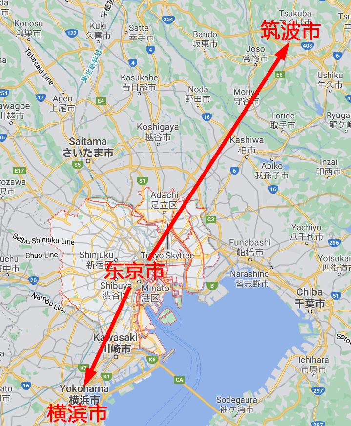 图3 日本东京—横滨—筑波创新带布局图