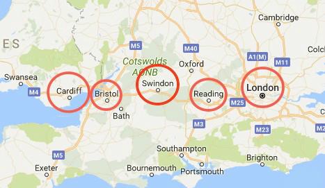图2 英国M4创新走廊布局图