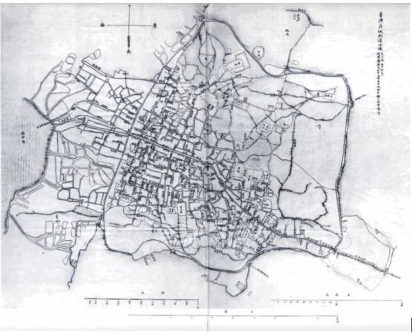《台湾府城街道全图》