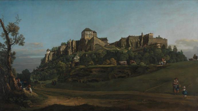 """华沙战后重建的图画模版,贝洛托""""国王岩堡垒""""重聚"""