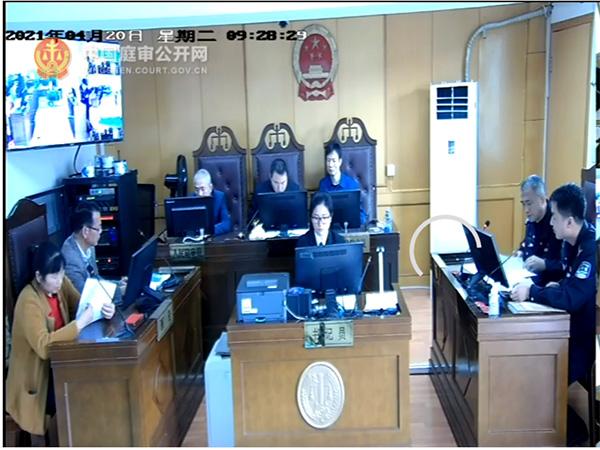 4月20日,黄国富诉派出所不履行法定职责案庭审现场