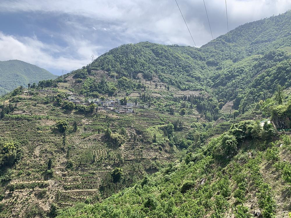 鲁兰的家在半山腰上。