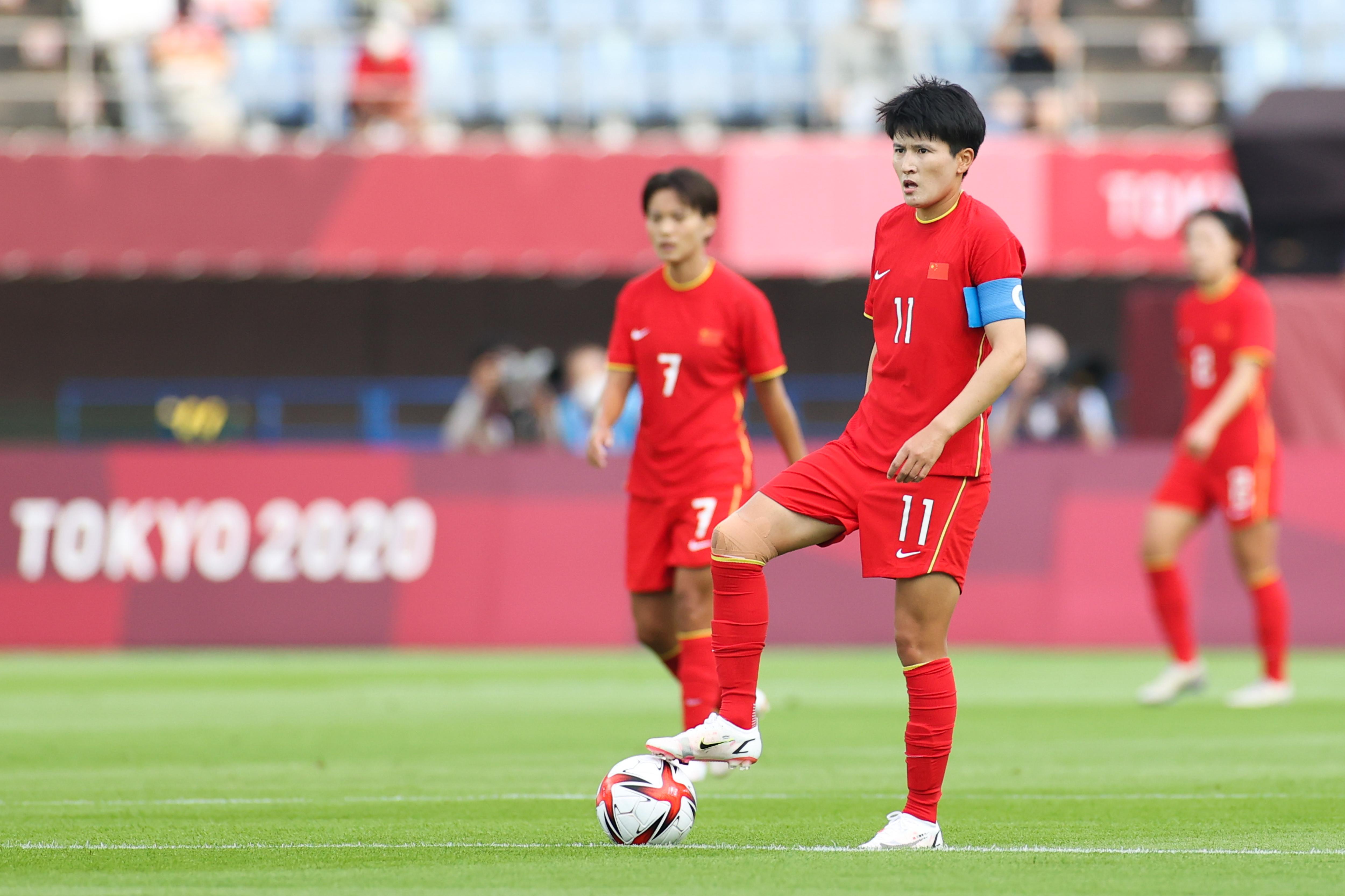 中国女足队长王珊珊。