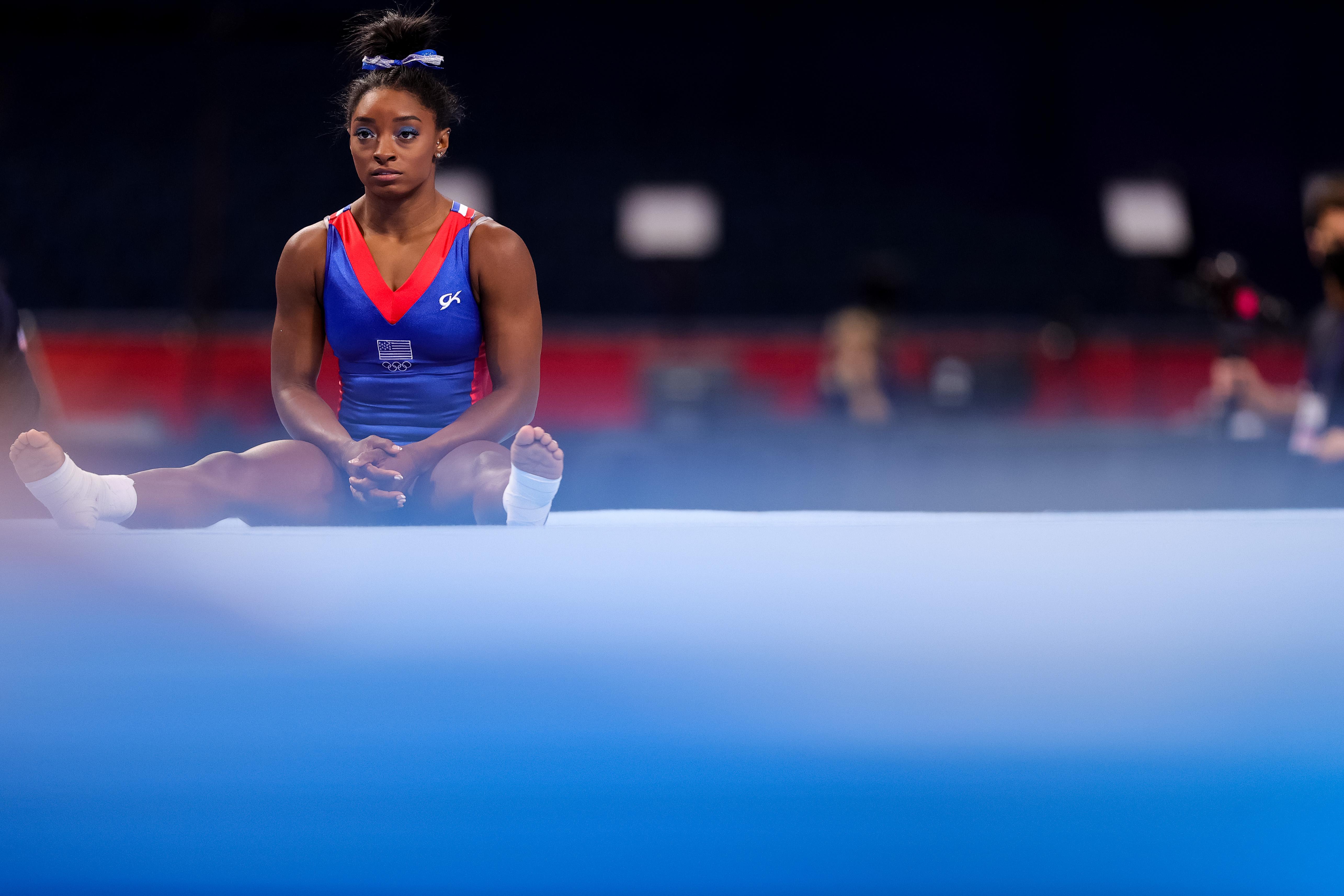 美国体操队核心人物拜尔斯。