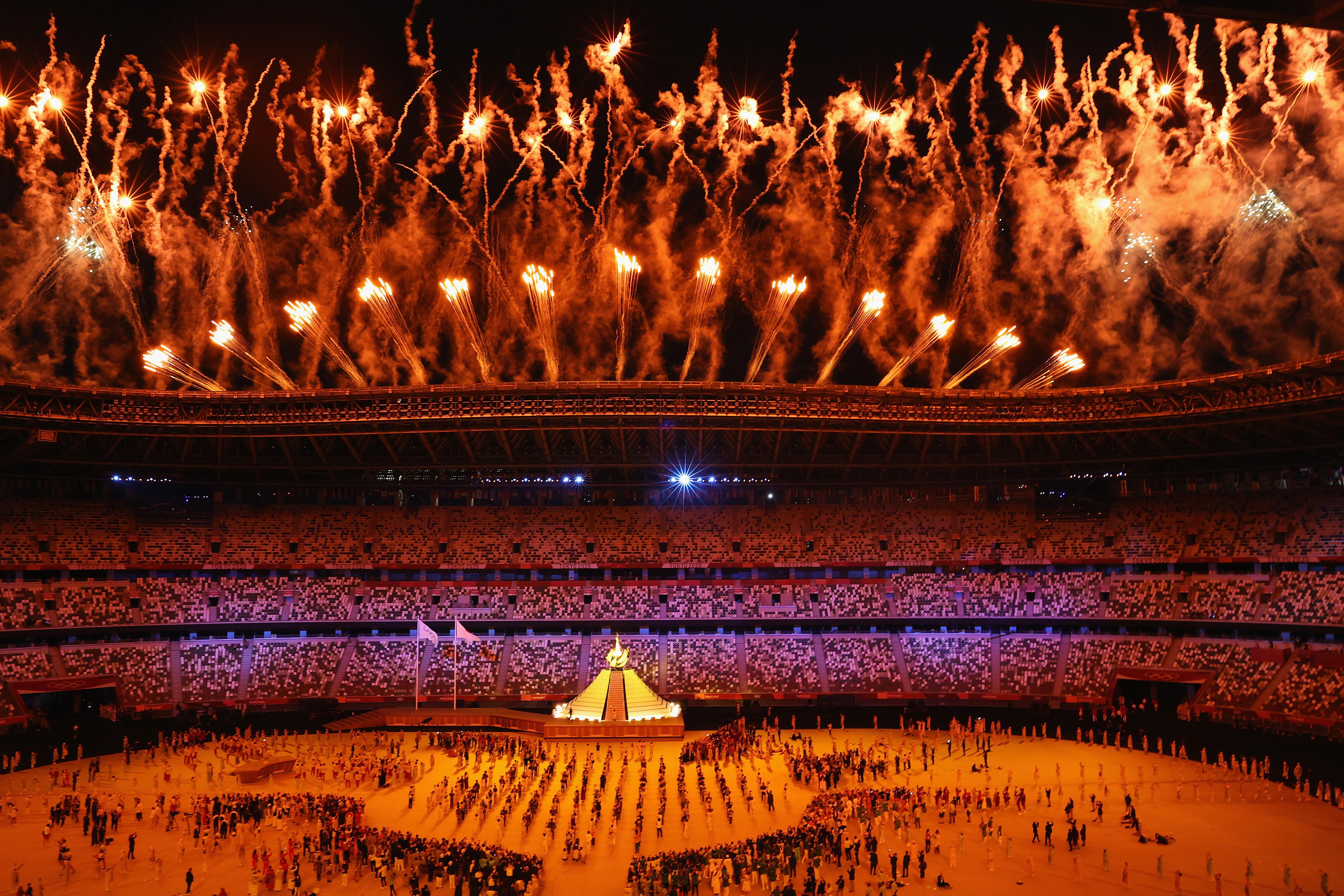 当地时间2021年7月23日,日本东京,2020东京奥运会开幕式举行。