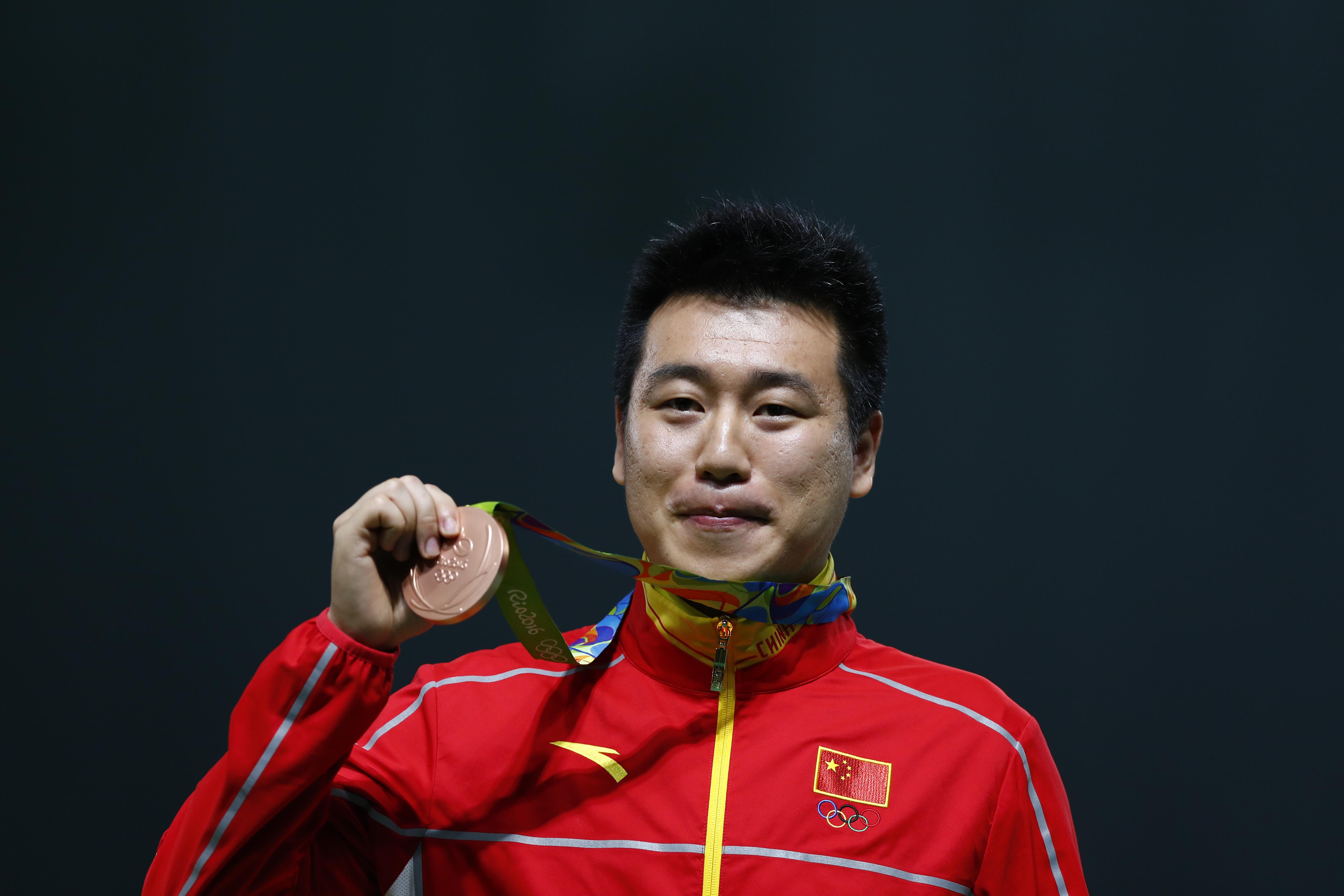 里约奥运,庞伟拿下铜牌。