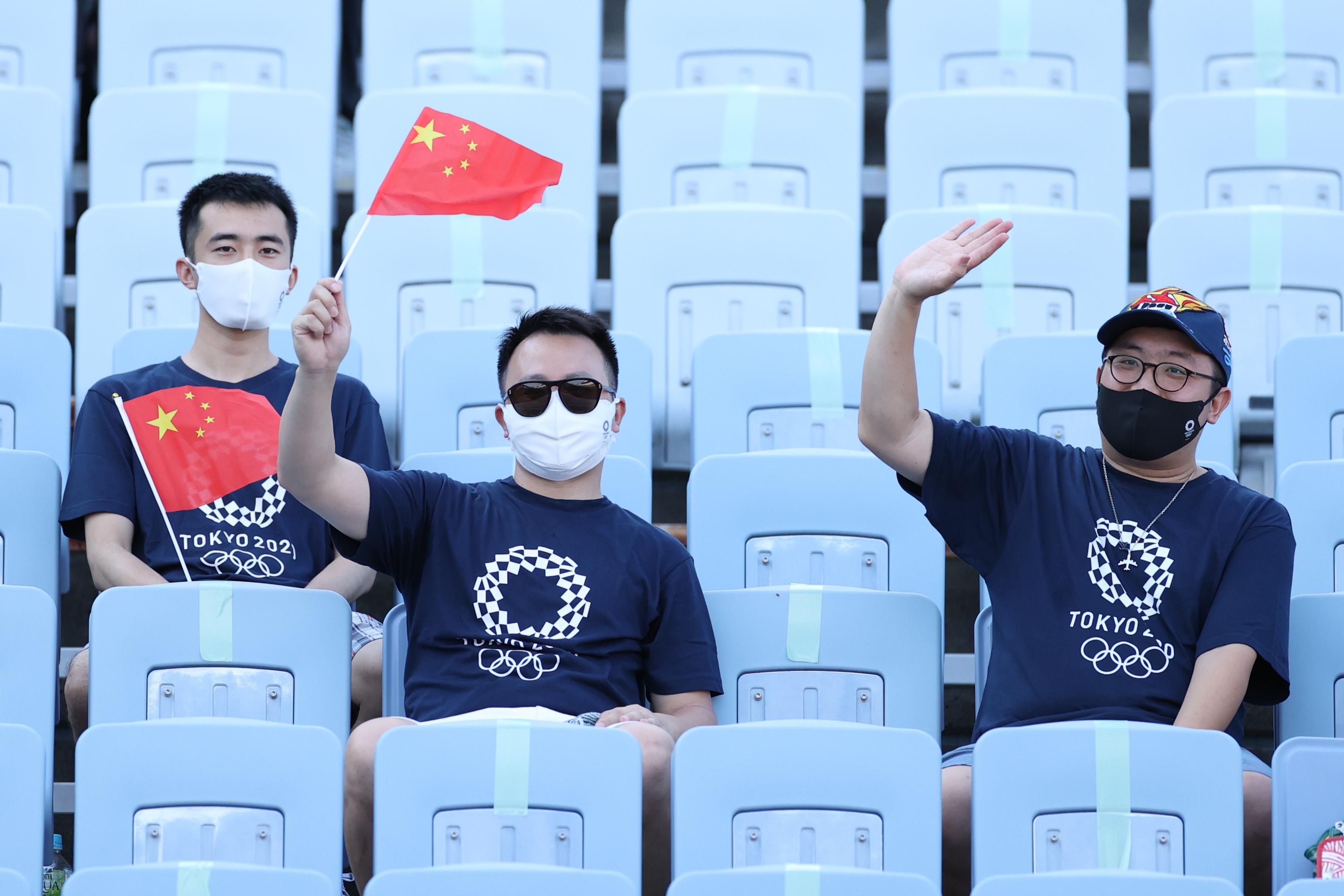 现场的中国观众。
