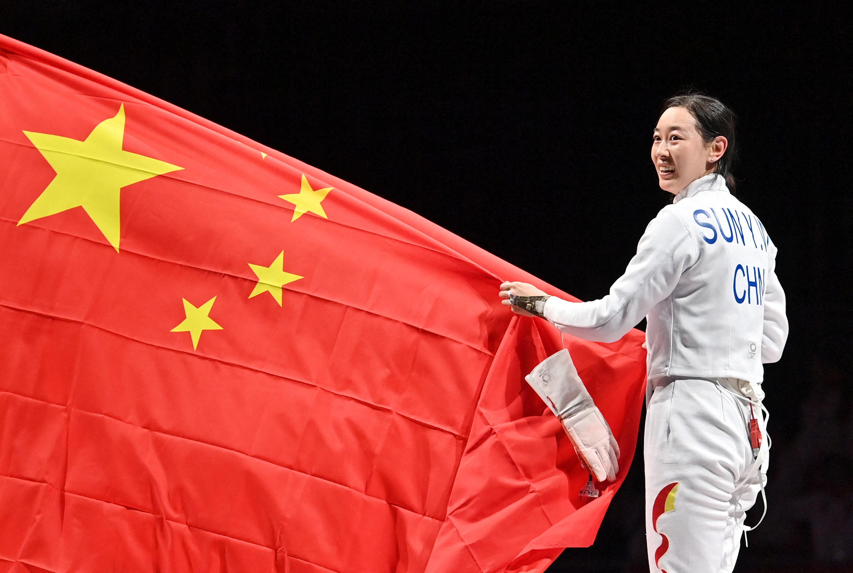 孙一文终于圆梦奥运冠军。