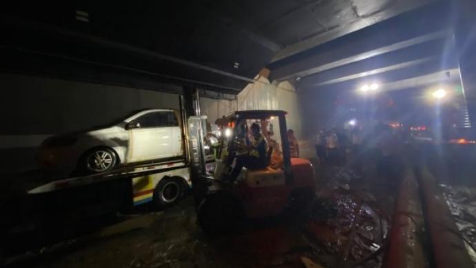 郑州京广北路隧道最新情况:被困车辆已全部被拉出