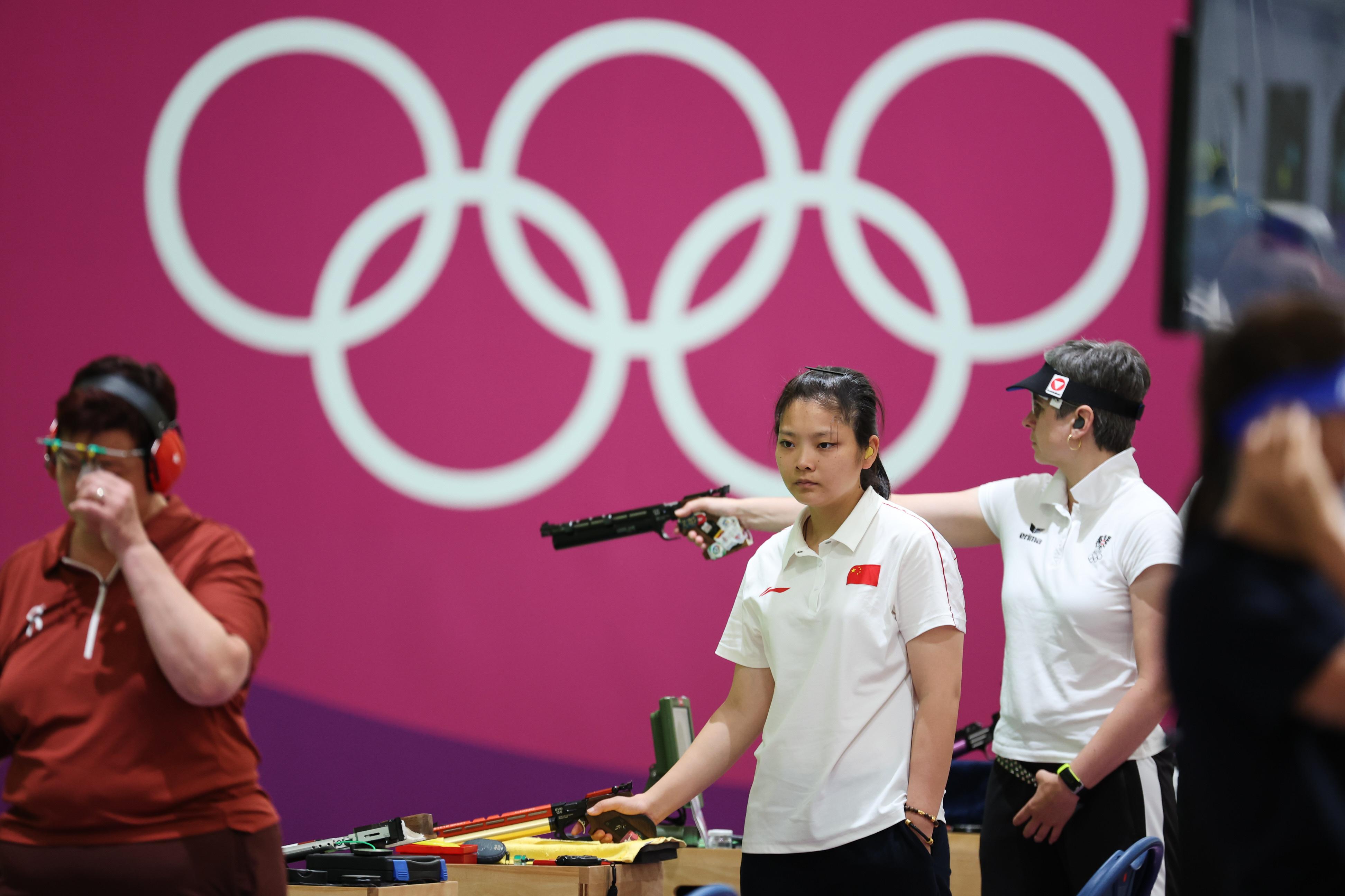 姜冉馨在东京奥运赛场。