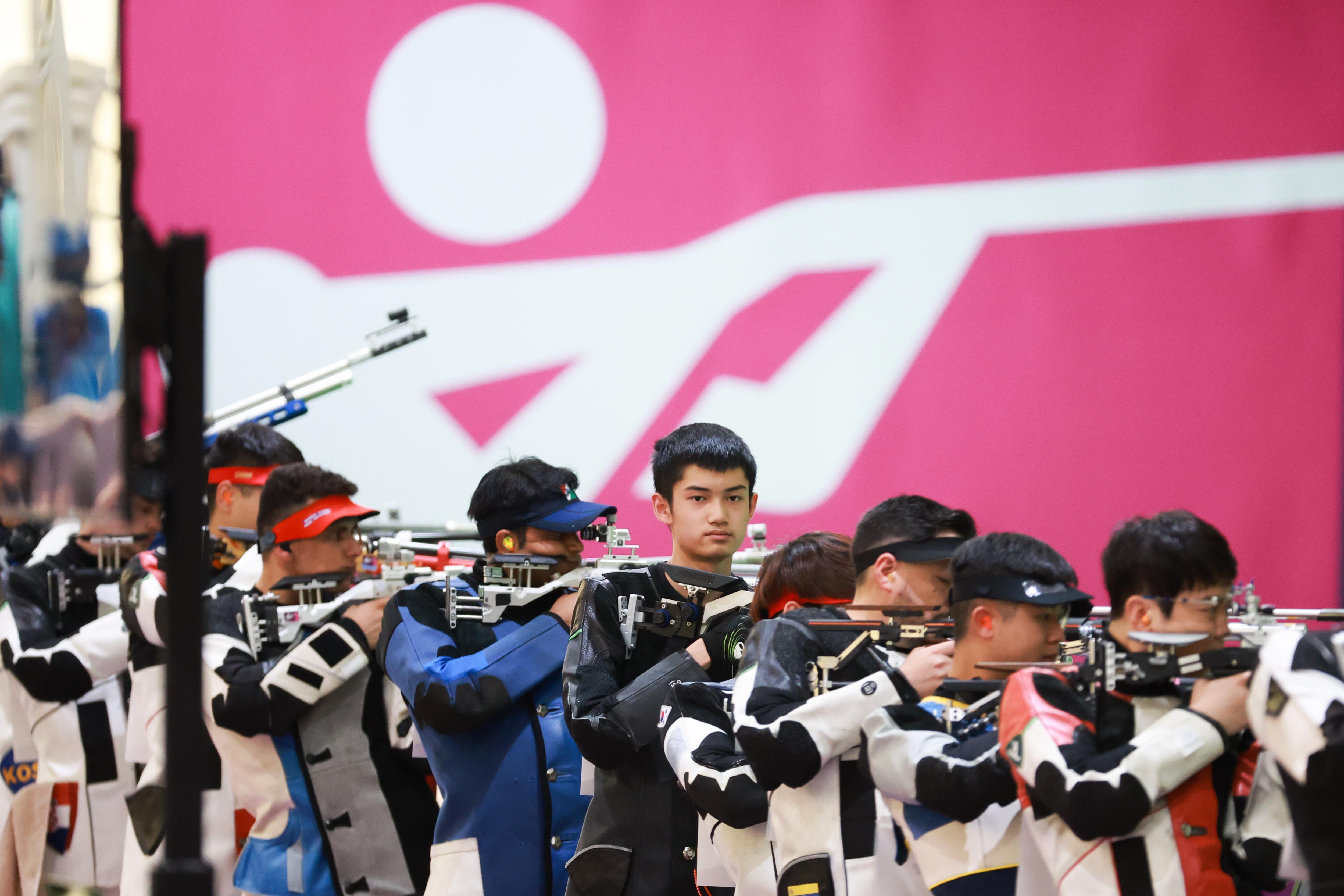 盛李豪在奥运赛场。