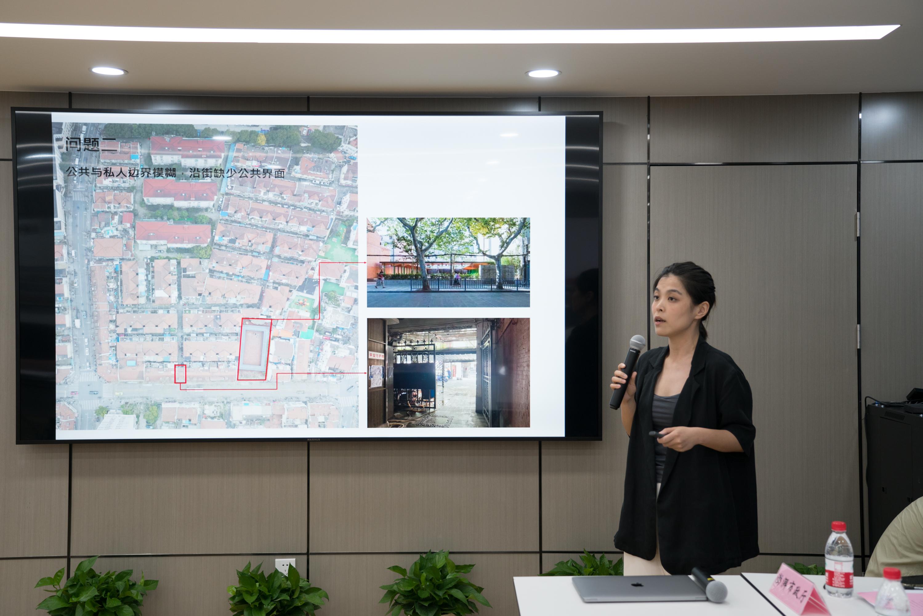 或间建筑工作室正在汇报。团队成员:郑皓钟、宋依、张洁、施晟宇;组长:郑皓钟、宋依。