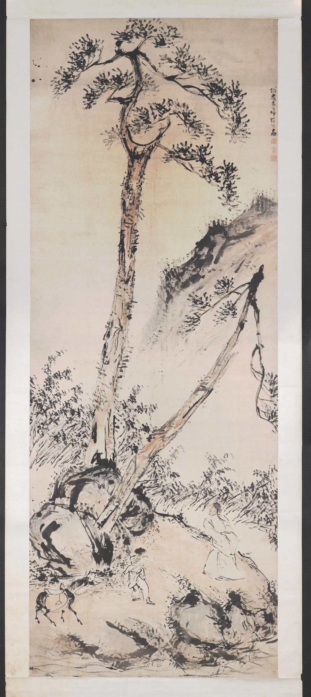 清 高其佩《松荫牧马》台北故宫博物院藏