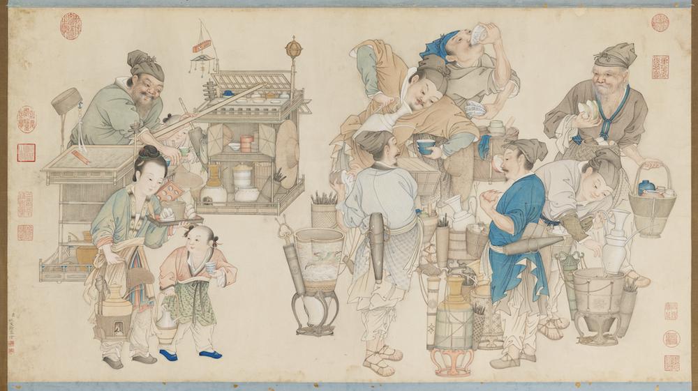 清 姚文瀚 《画卖浆图》台北故宫博物院藏