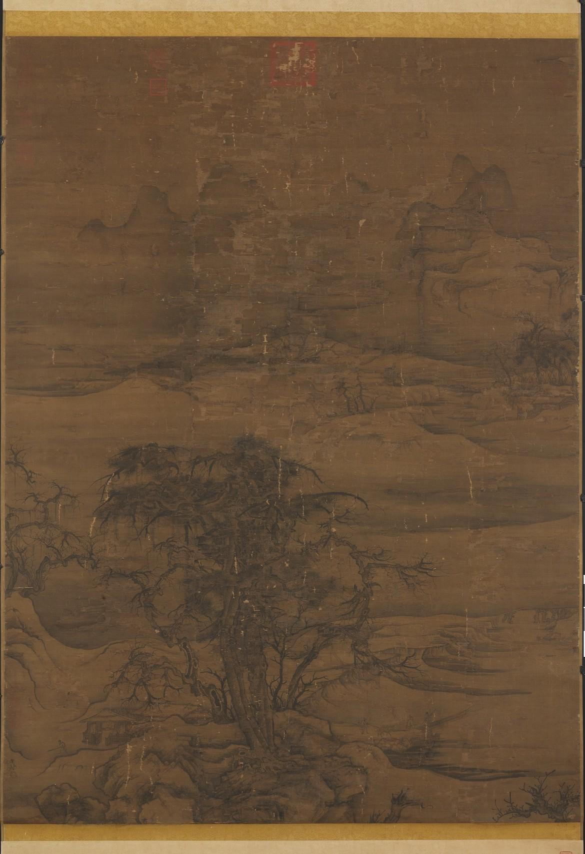 宋 宋人《寒林待渡图》台北故宫博物院藏