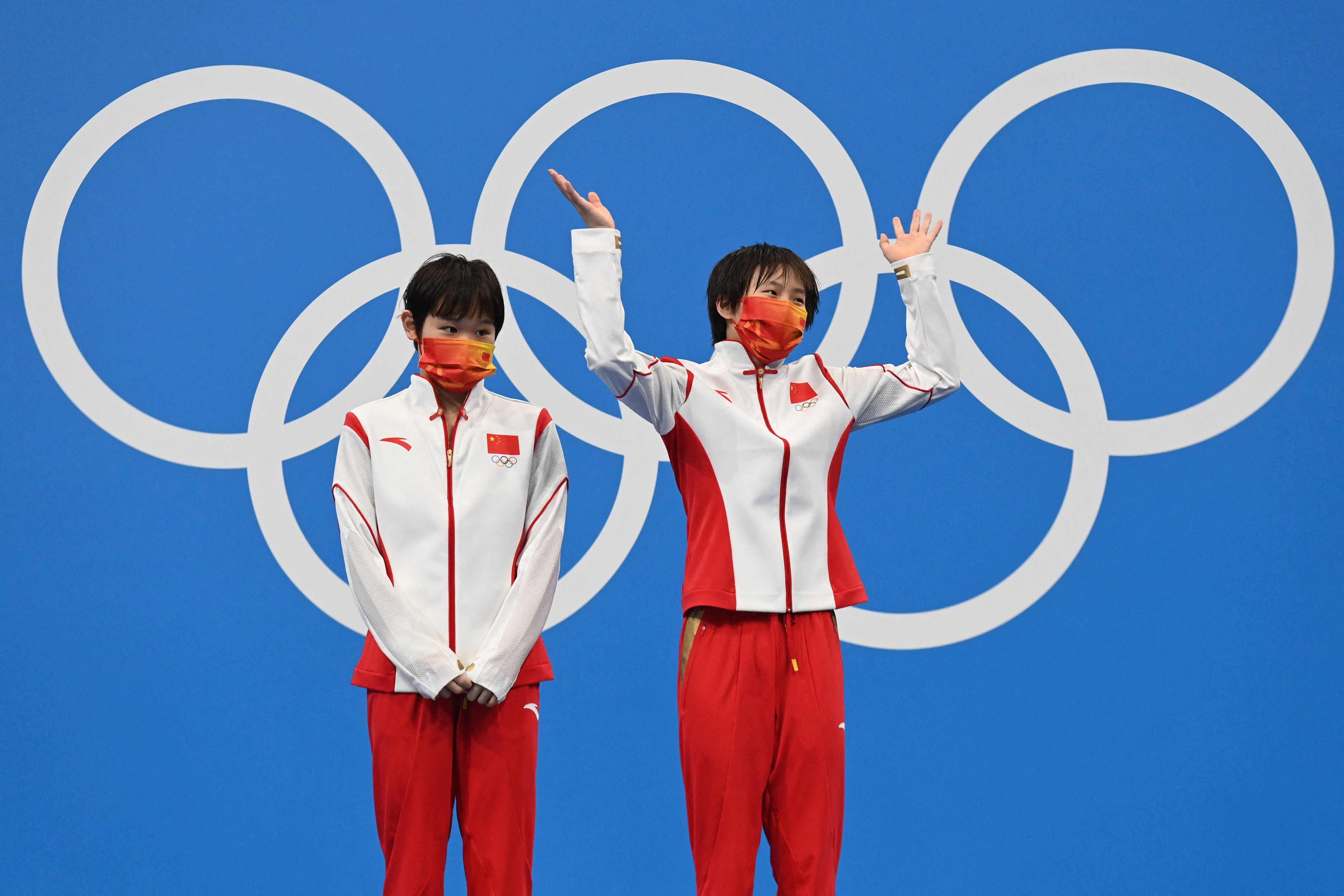 张家齐(左)和陈芋汐。