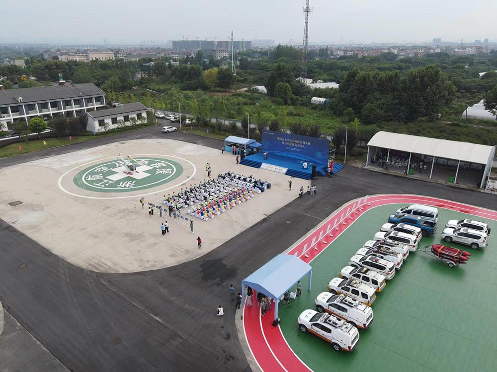 浙江首个高速公路应急救援实训基地。