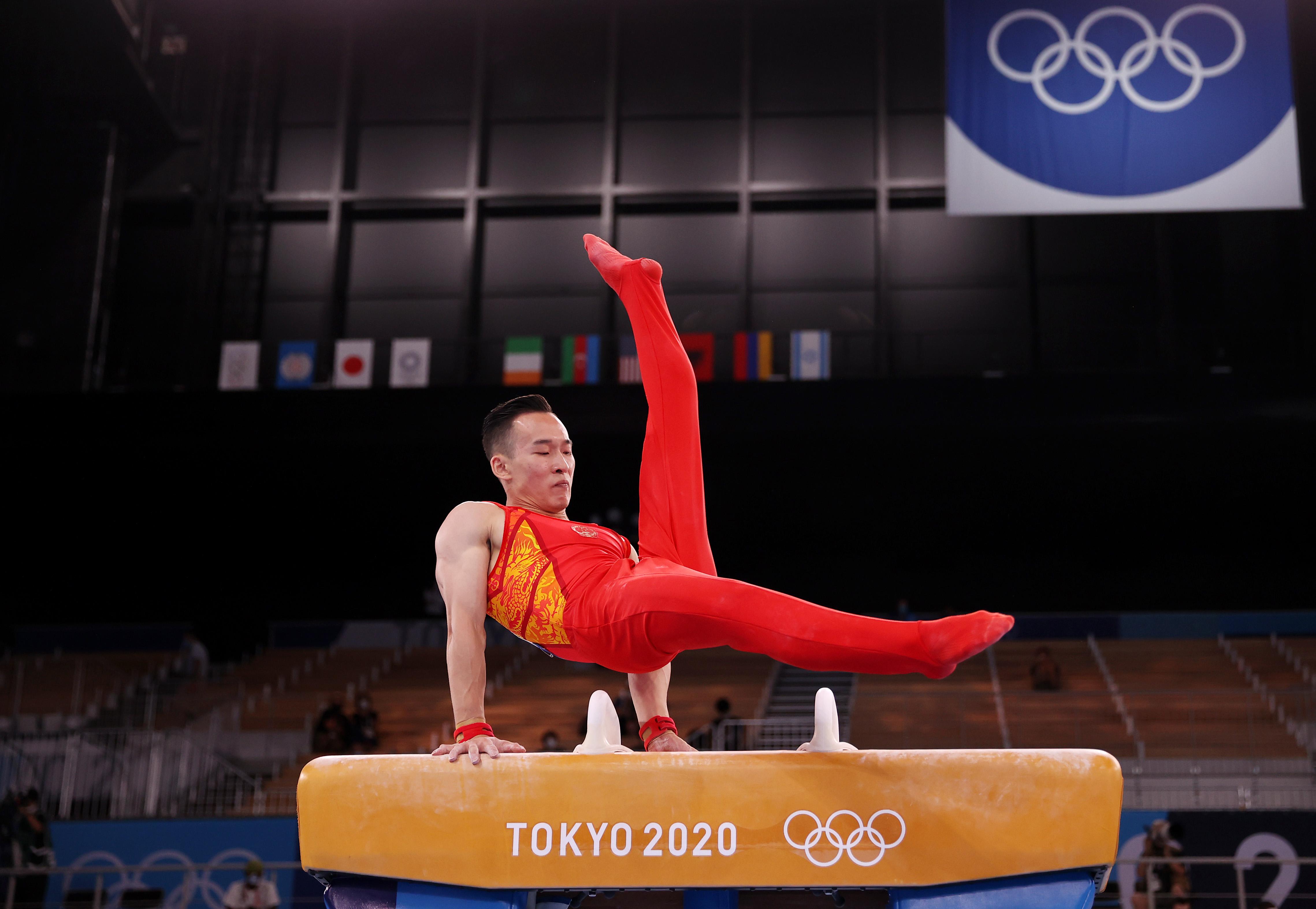 肖若腾在比赛中。