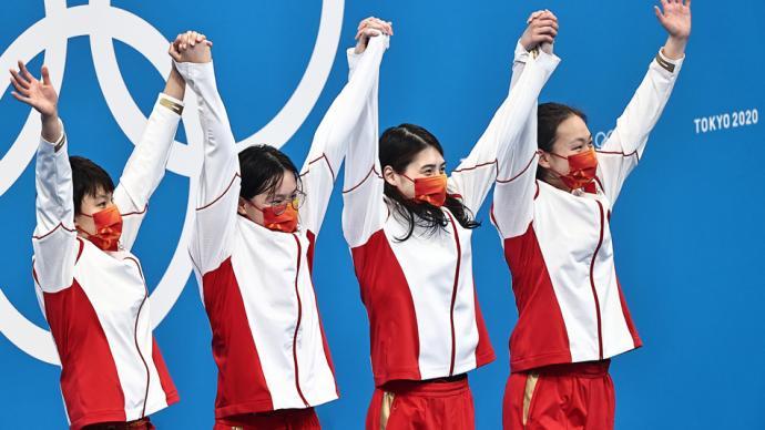 决战东京·战况|惊喜!女子4×200米自由泳接力再传捷报