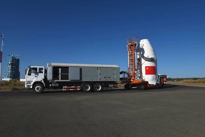 火箭转场。 本文图片中国航天科技集团八院提供