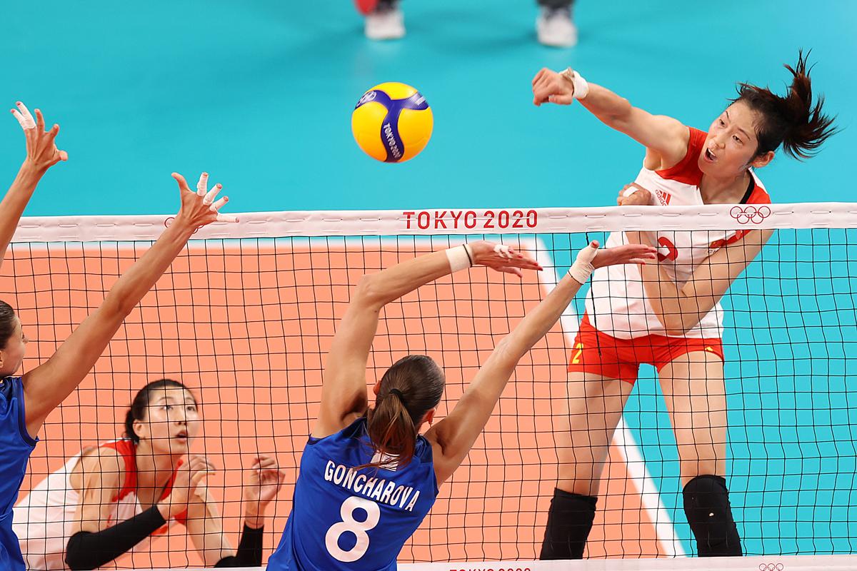 李盈莹在本场表现亮眼,被俄罗斯队重点防守。