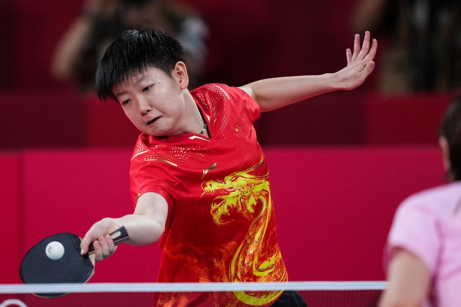 孙颖莎在决赛中。