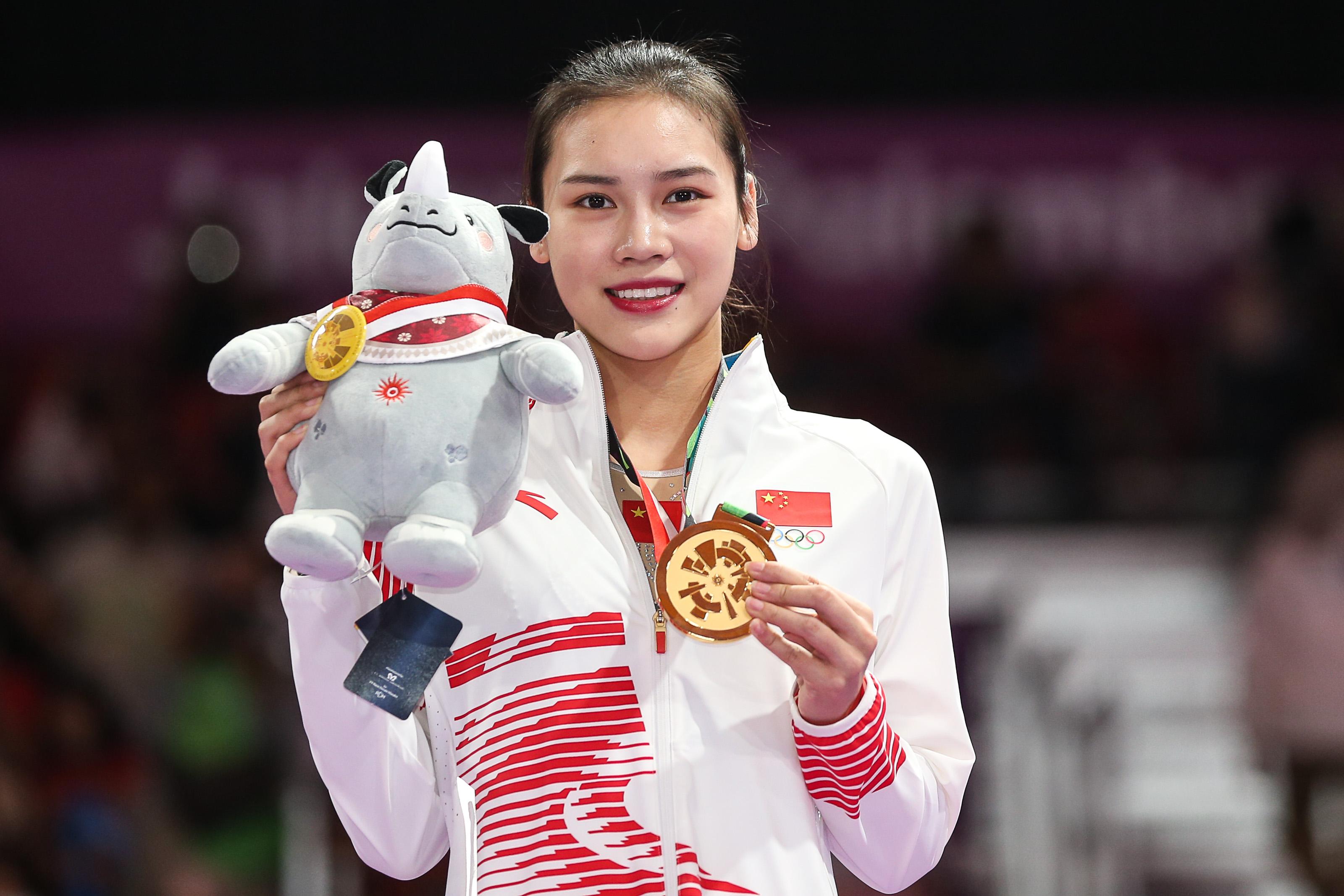刘灵玲雅加达亚运会夺金。