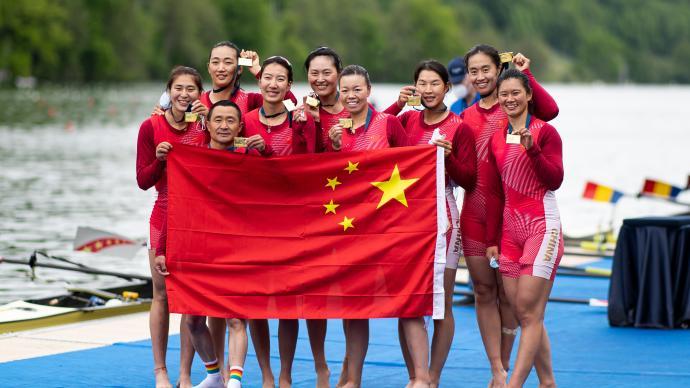 创造历史!奥运女子八人单桨有舵手赛艇,中国队拿下铜牌