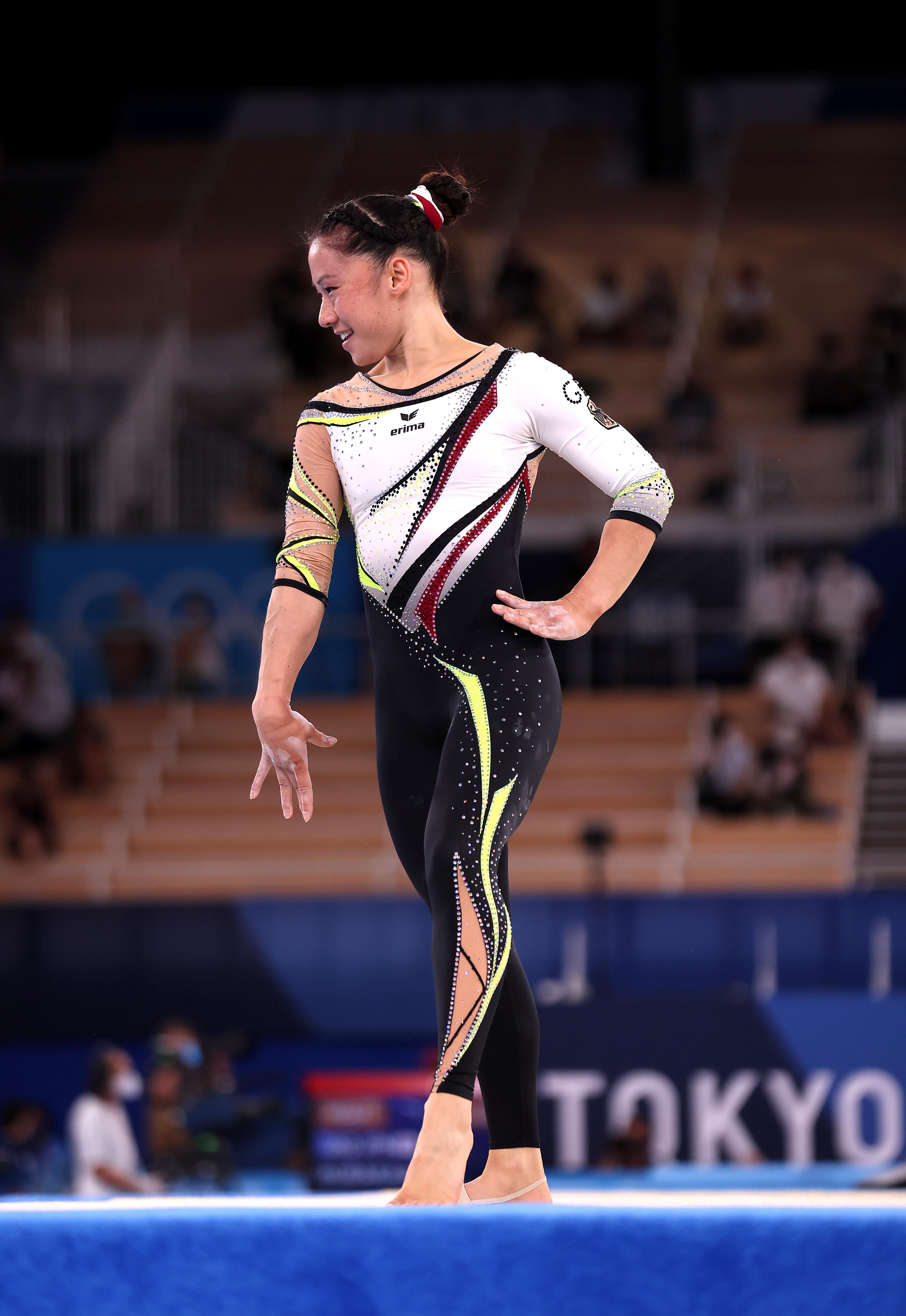 德国选手的长款体操服。