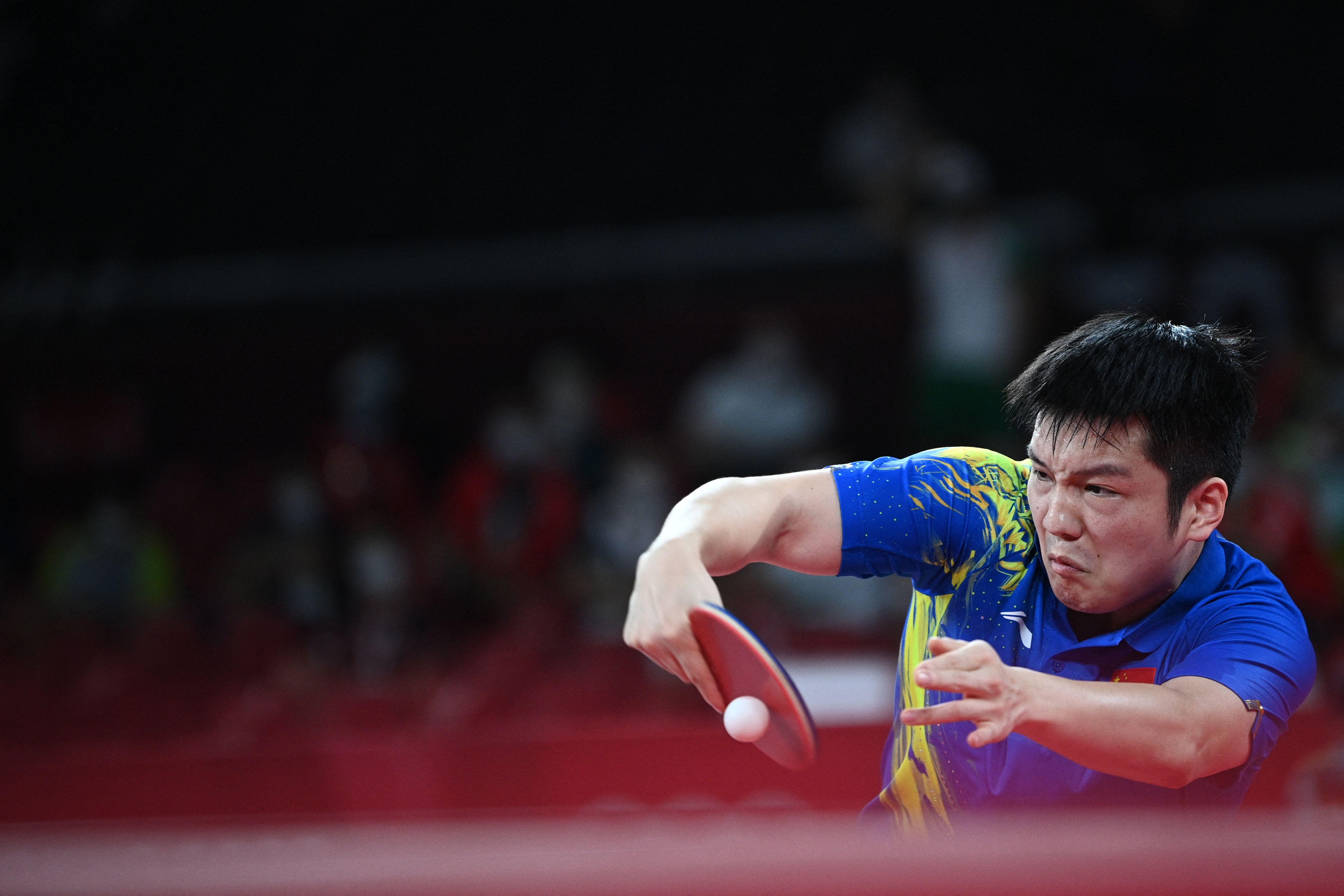 樊振东在奥运决赛的舞台,还是有些青涩。