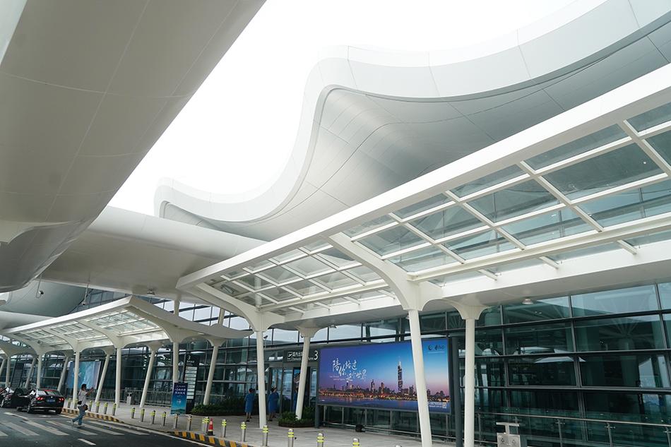 南京禄口国际机场T1航站楼外景。 新华社记者 季春鹏 资料图