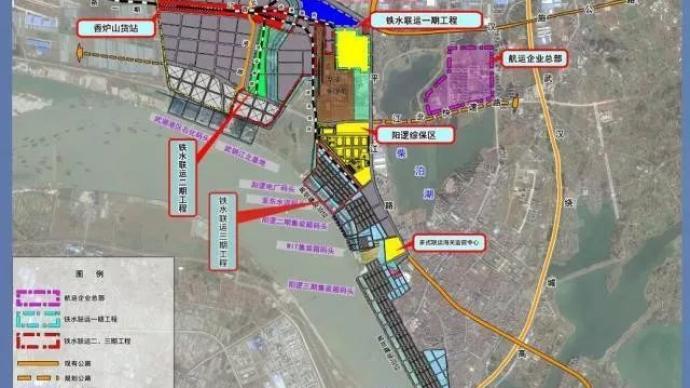 中国内河最大水铁联运枢纽武汉启用,打通铁路水路最后一公里