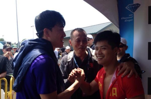 刘翔和苏炳添。