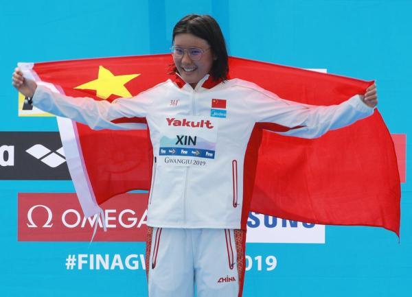 2019年,辛鑫为中国公开水域拿下第一枚世锦赛金牌。