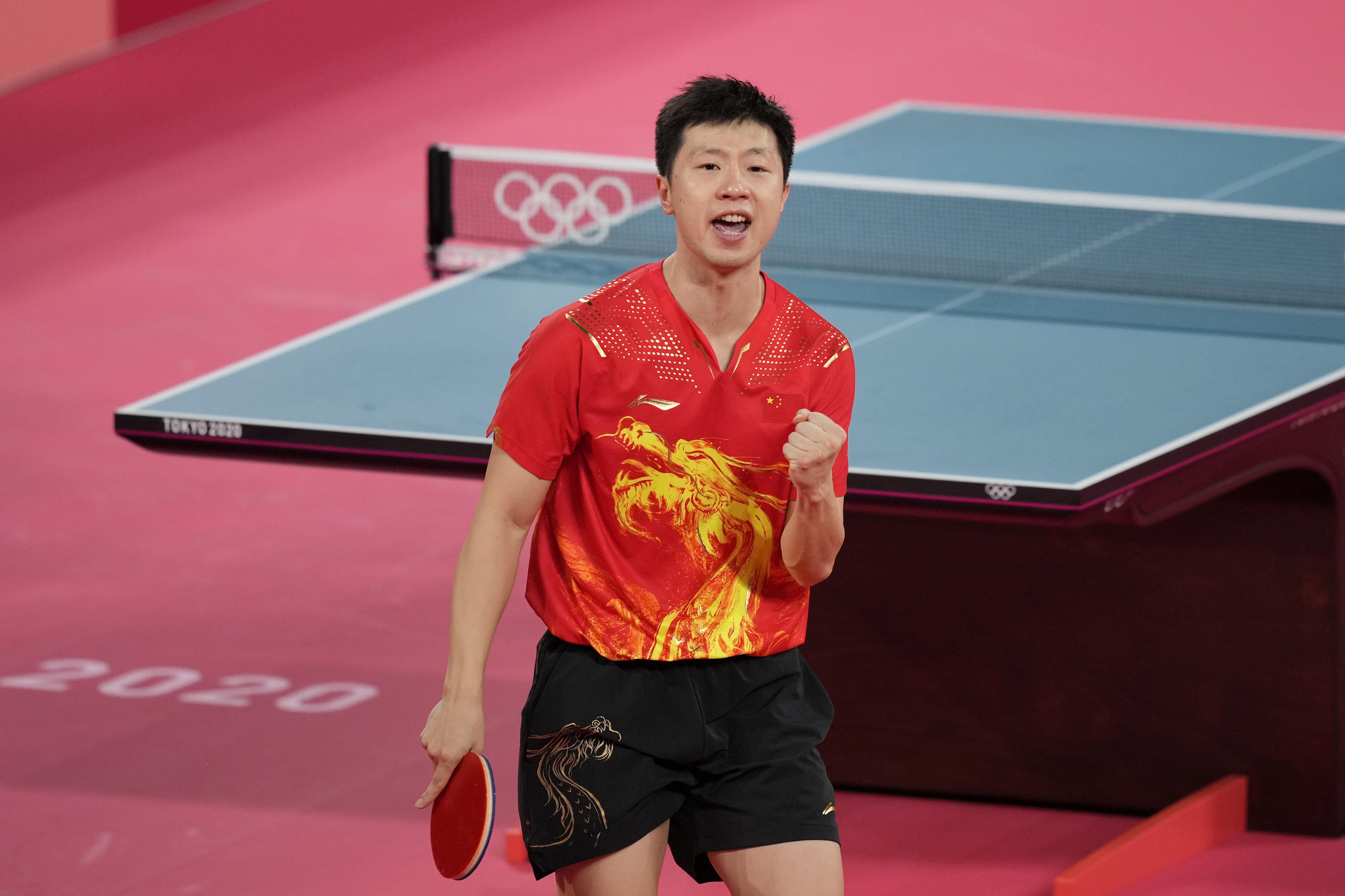 马龙3-2击败李尚洙。