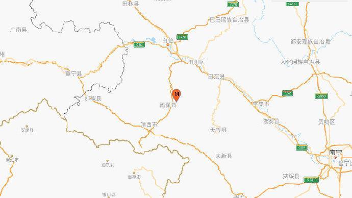 广西百色市德保县发生4.8级地震,震源深度10千米
