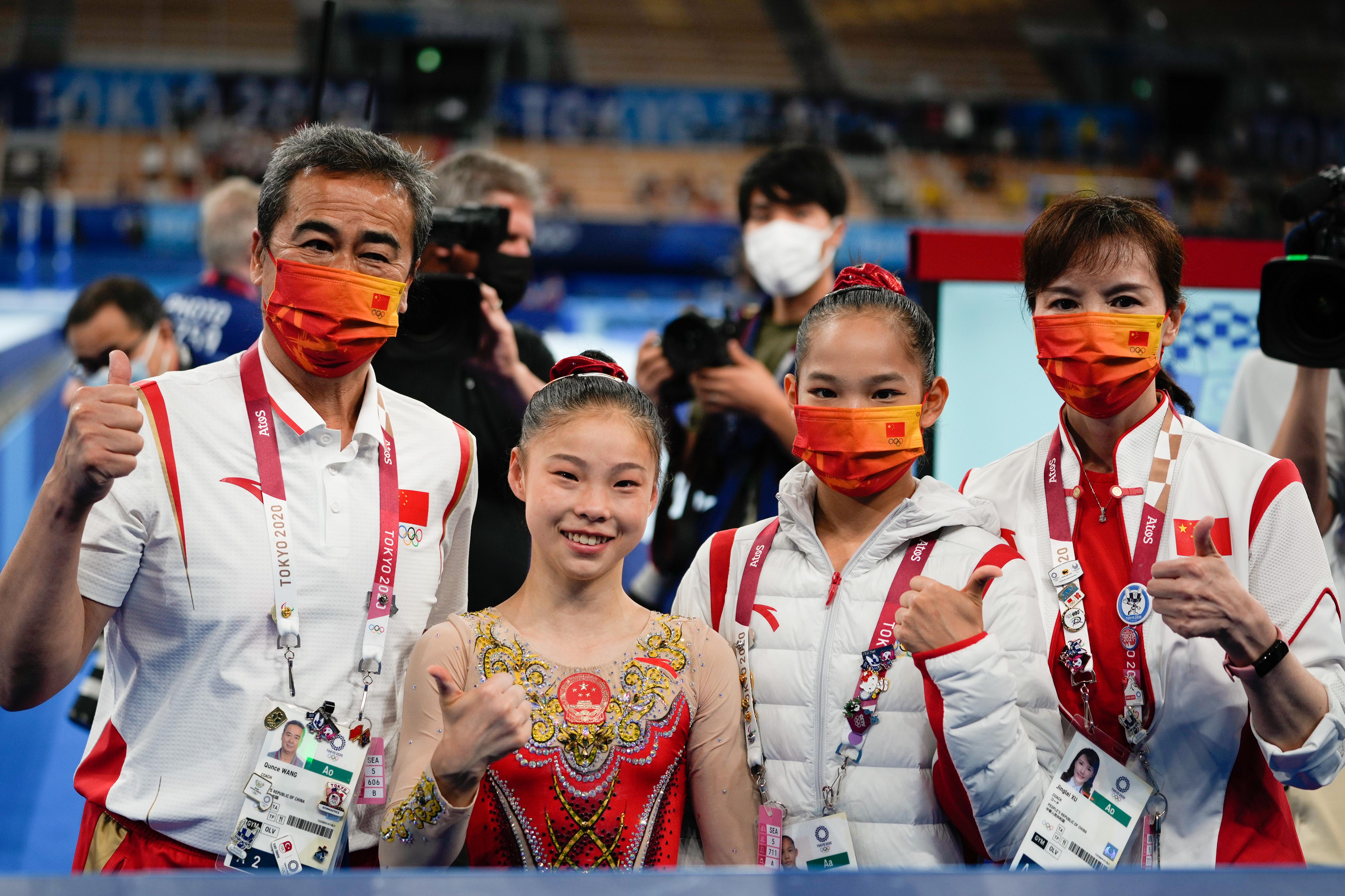 中国队赛后合影。