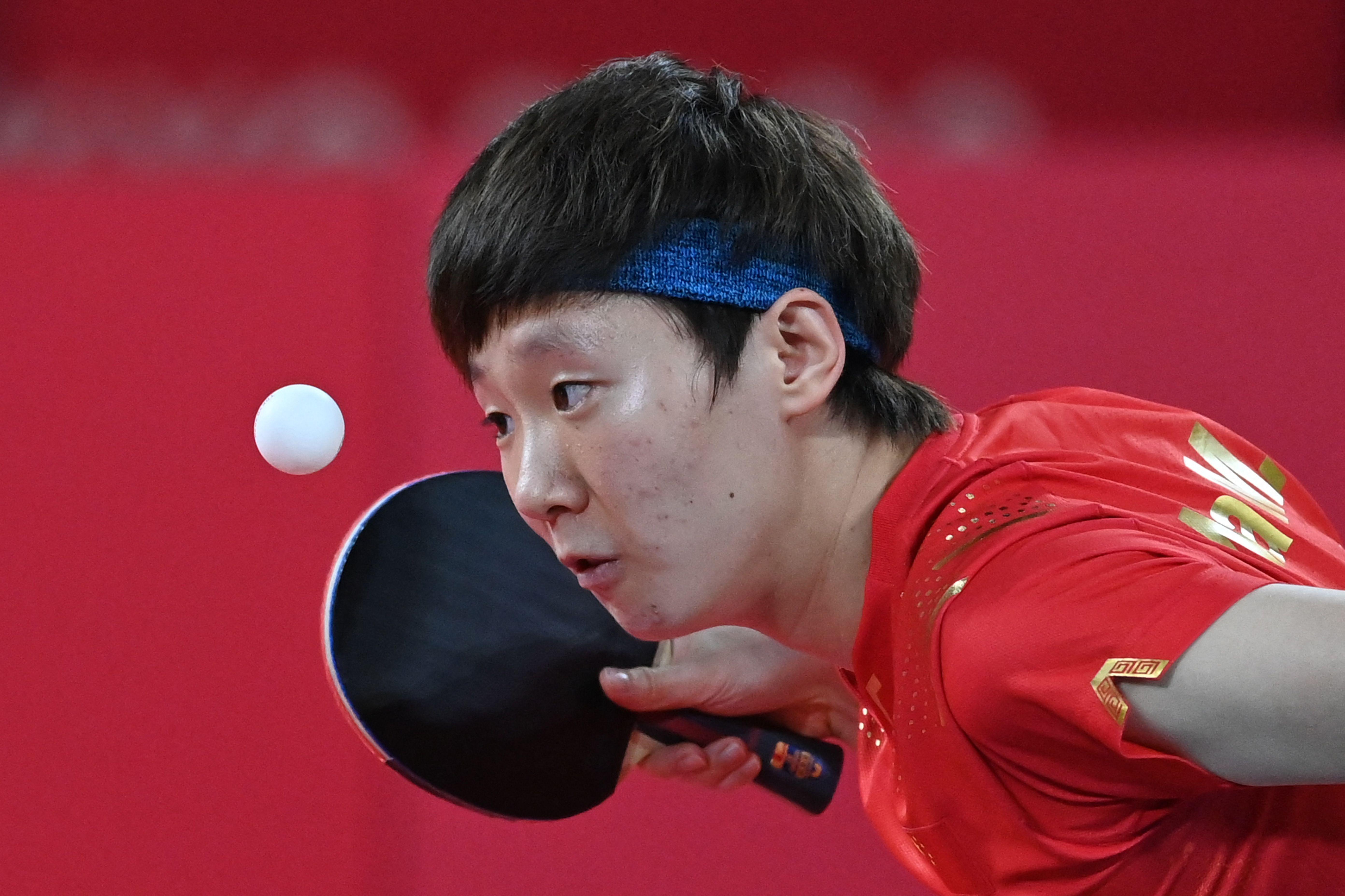 P卡选手王曼昱替补刘诗雯出战。