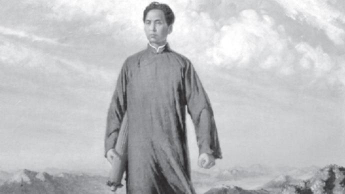 《毛主席去安源》:手拿雨傘的革命家
