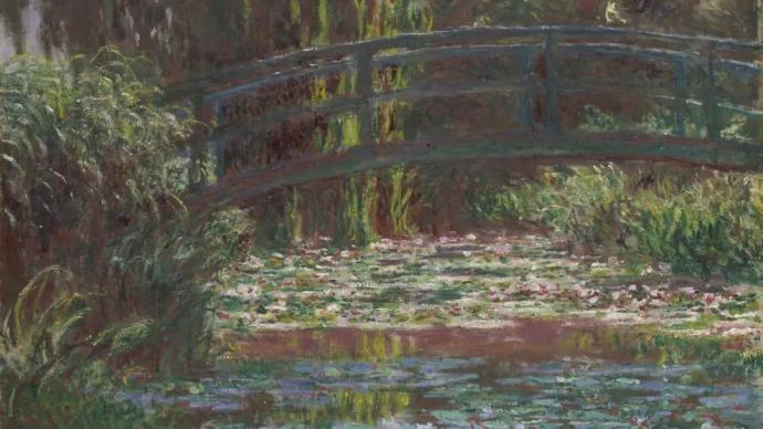 莫奈筆下的日本橋與睡蓮池,水陸相接的兩種畫法