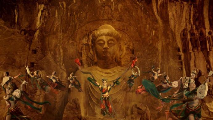 龍門金剛女領舞:吊威亞還原石刻形態,正備戰世博會獨舞飛天
